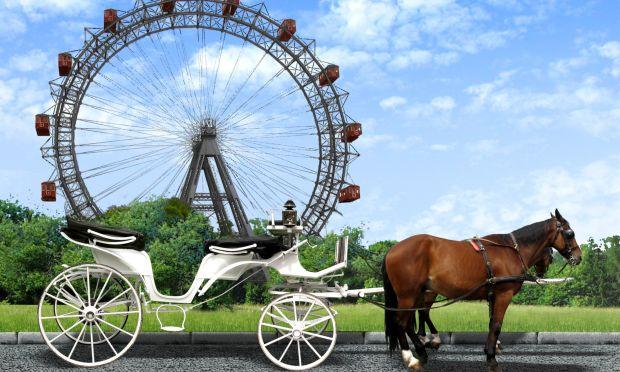 Wiener Riesenrad mit Prater