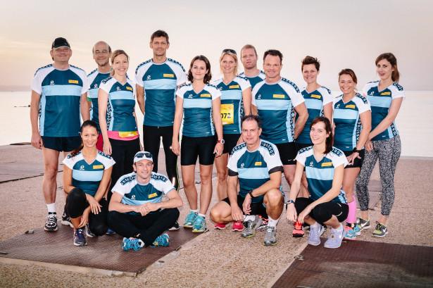 Das motivierte Team vor dem Start