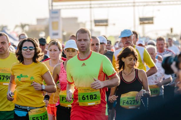Kurz nach dem Start des Halbmarathons