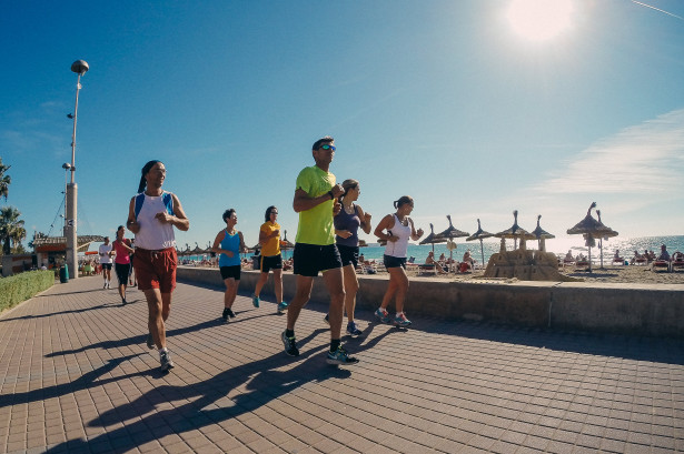Der erste Lauf auf der Strandpromenade