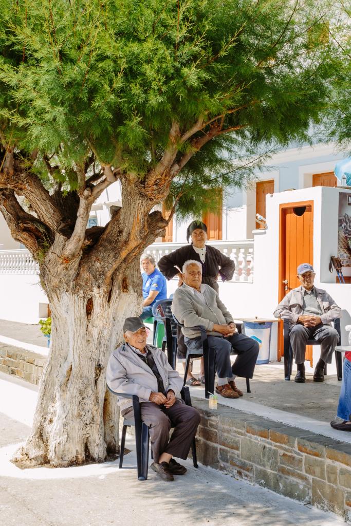 Typisch griechisches Kaffeehaus in Diafani