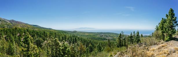 Mountainbiken - Aussicht auf Gran Canaria