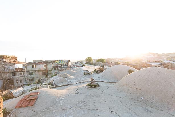 Das Dach von Büyük Valide Han Istanbul
