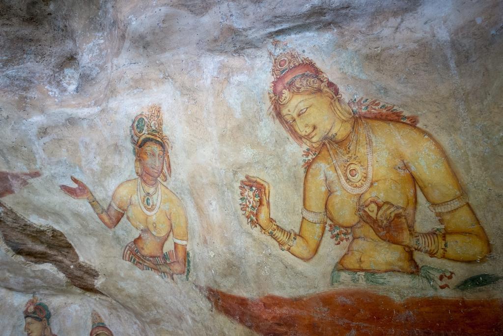 Hölenmalerei_Sigiriya Felsen_Sri Lanka