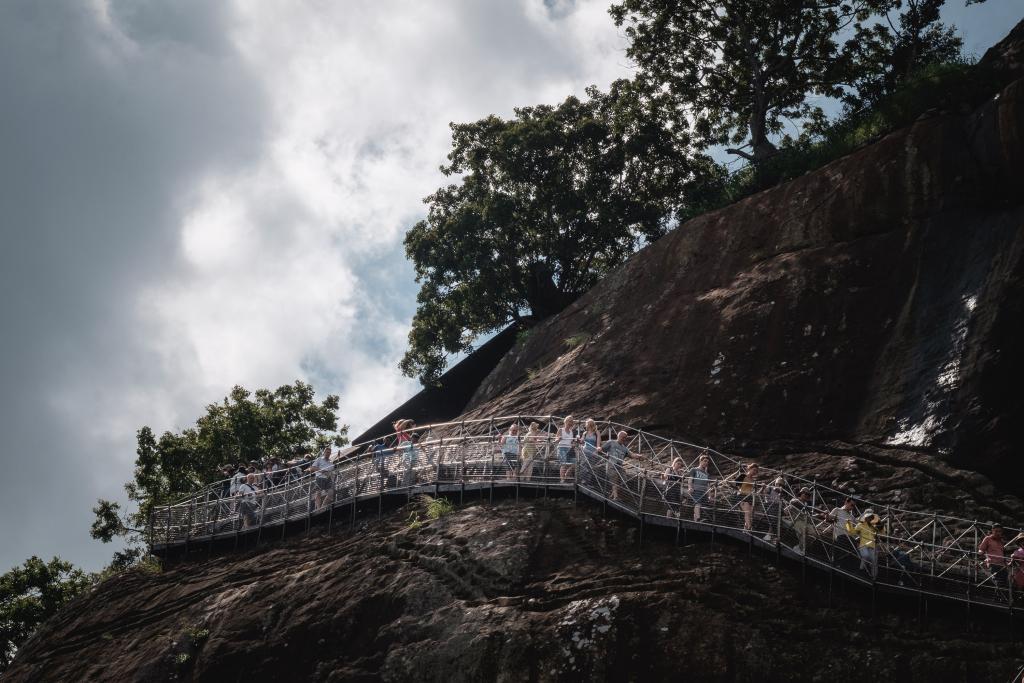 Weg_Sigiriya Felsen_Sri Lanka