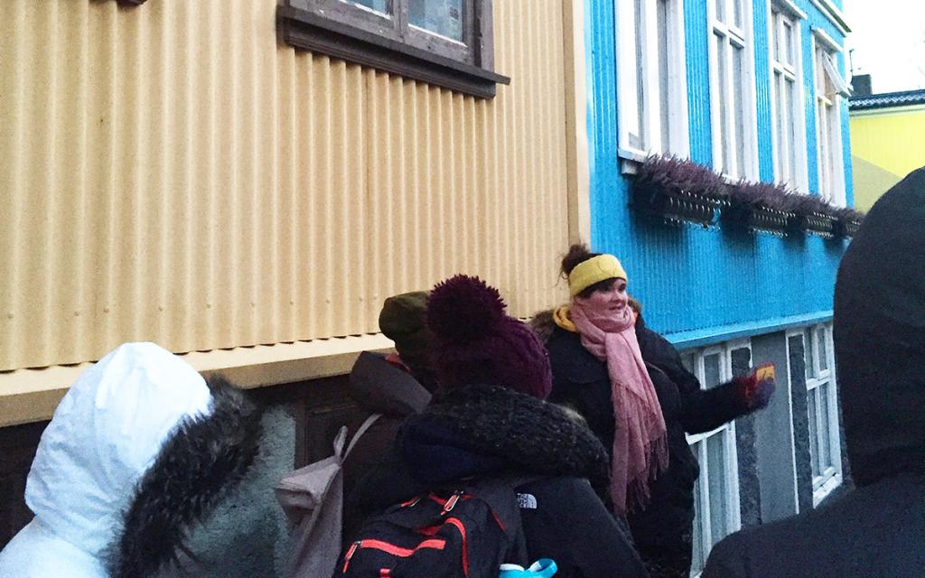 Auður Ösp bei ihrer Tour.