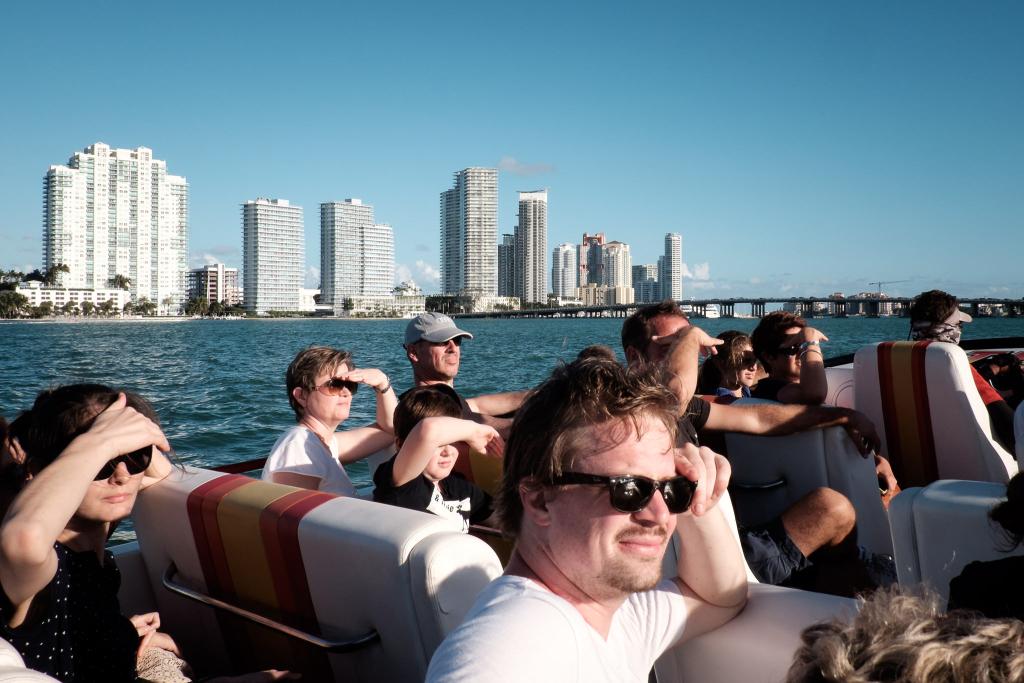 Miami Urlaub Speedboat Skyline
