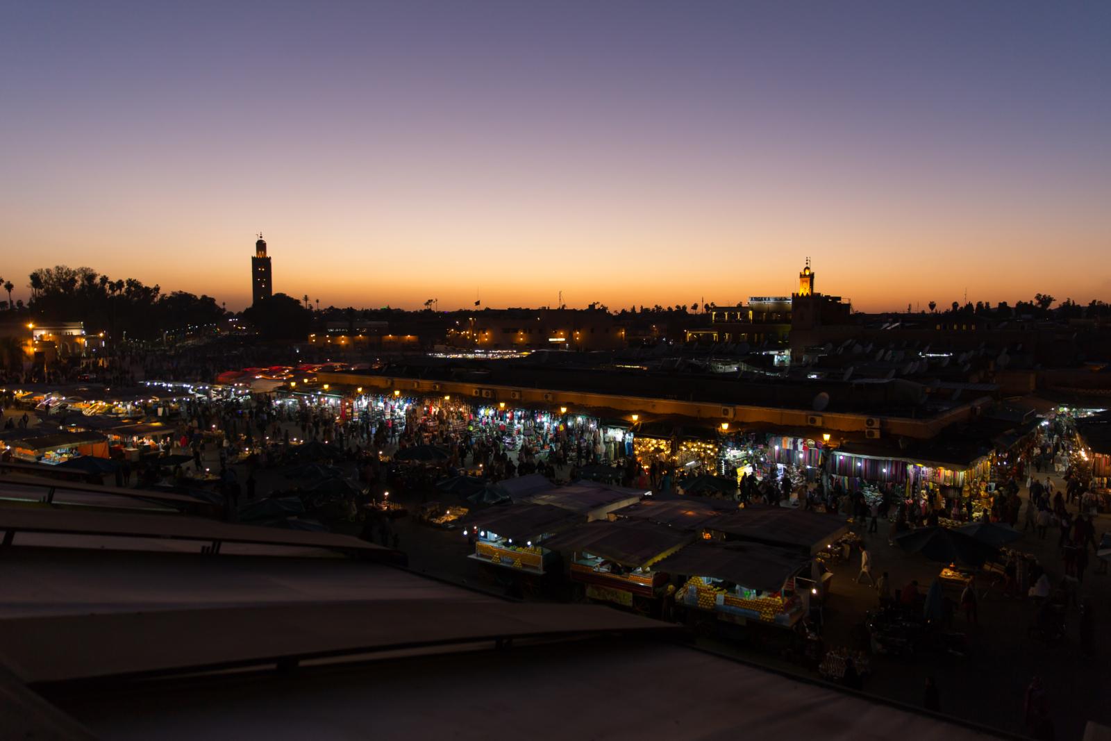 Sonnenuntergang vom Café de France, Marrakesch_TUI