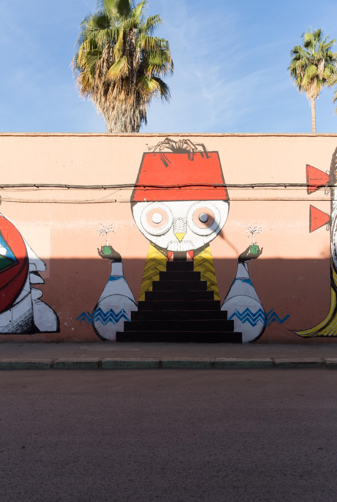Streetart an der Palastmauer_Marrakesch