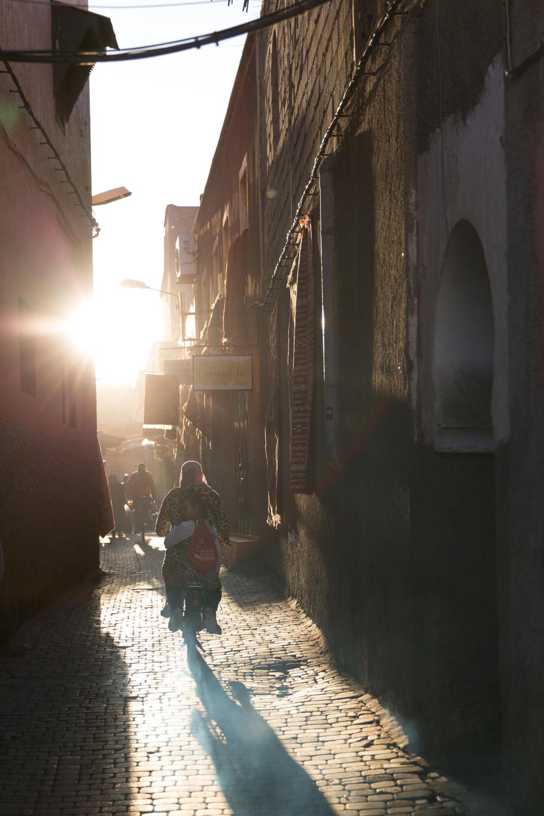 Tiefstände Sonne in der Medina_72h Marrakesch_TUI