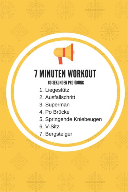7 Minuten Workout auf Reisen
