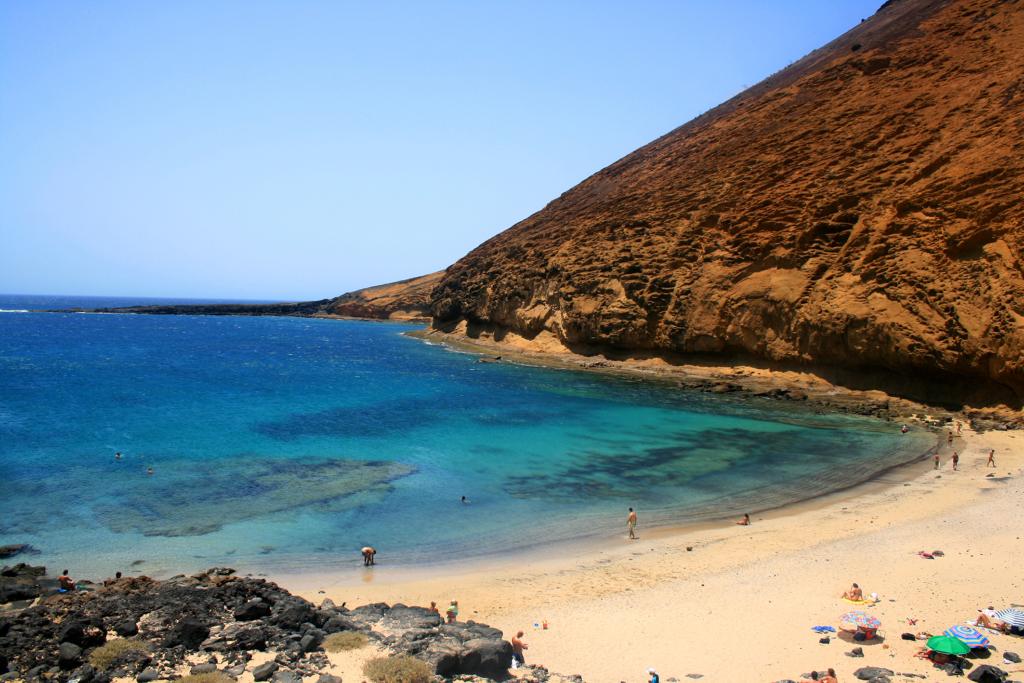 Kanaren_Lanzarote_La Graciosa Playa la Cocina