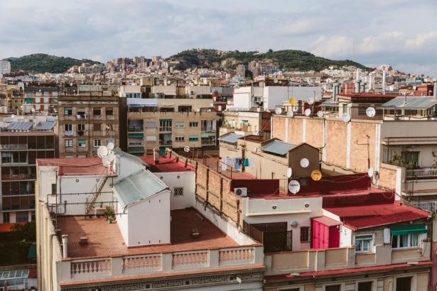 Vom Dach des Ayre Hotel Rosellon