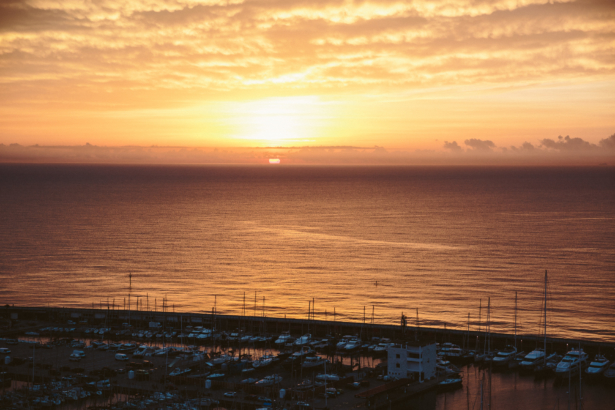 Sonnenaufgang in Barcelona