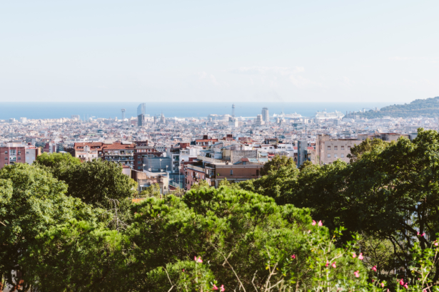 Ausblick auf Barcelona vom Park Güell
