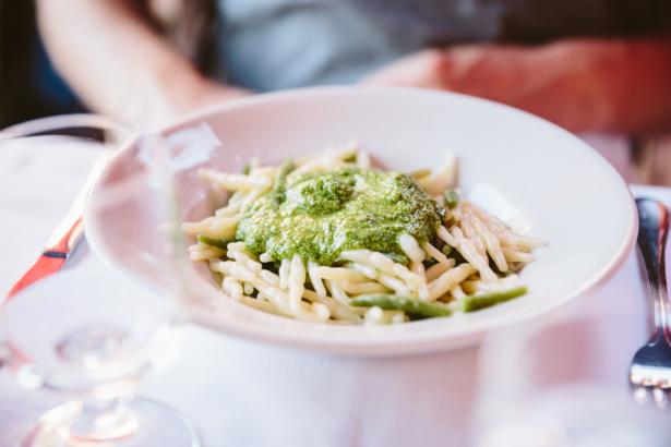 Trofie con Pesto in Vernazza