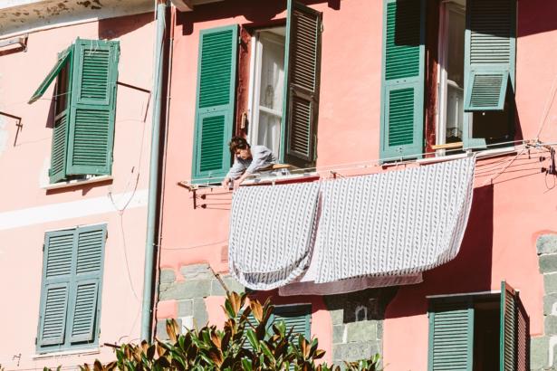 Wäsche trocknen in Vernazza Cinque Terre