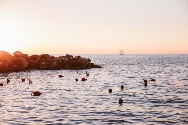 Sonnenuntergang in Rio Maggiore Cinque Terre