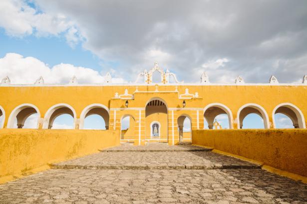 Die gelbe Stadt Izmal in Yucatán