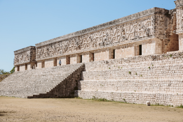 Uxmal Maya Pyramide in Yucatan