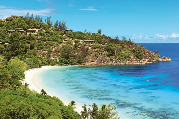 Four Season Resort Seychelles TUI Hotel Blog Fernreise Strand Meer Seychellen Ausblick