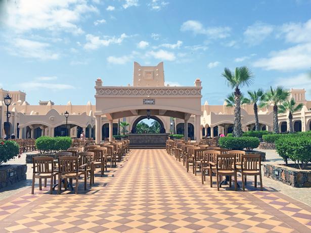Die Hotelanlage ist im maurischen Stil gebaut.