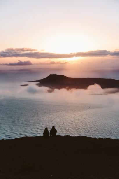 Sonnenuntergang La Graciosa von Lanzarote