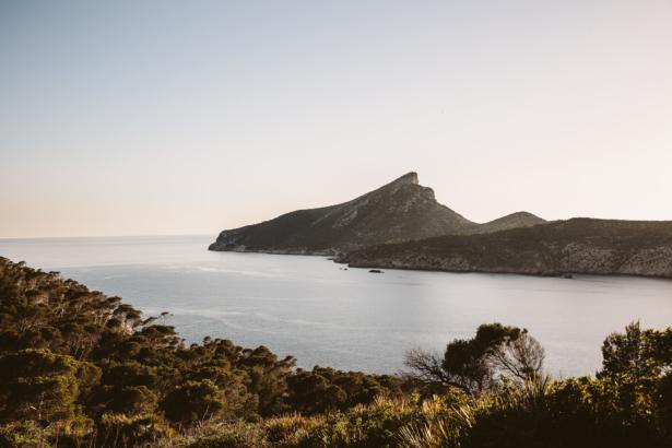 Blick auf Dragonera von Mallorca