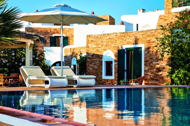Naxos Hotel Galaxy Pool Liegen