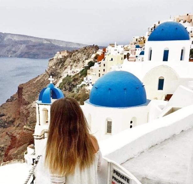 Kykladen Inselhpüfen Griechenland - Santorin Selina