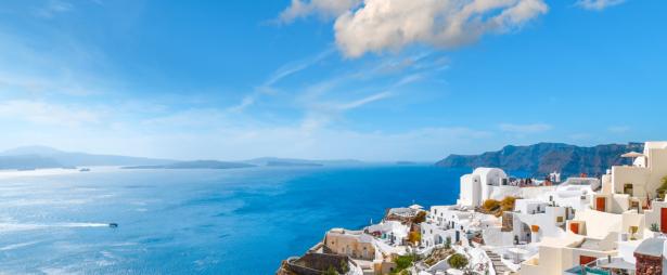 Kykladen Inselhüpfen Griechenland - Santorin Ausblick