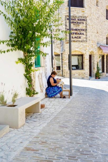 Zypern Lefkara Herstellung Spitze