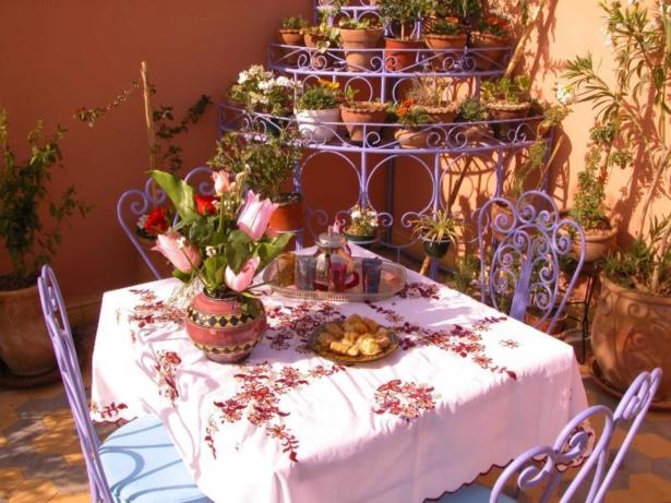 48 Stunden in Marrakesch - Riad Bleu du Sud Terrasse