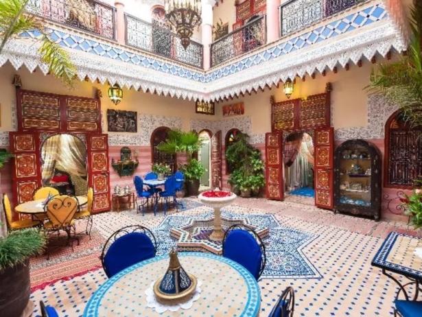 48 Stunden in Marrakesch - Riad Bleu du Sud Innenhof