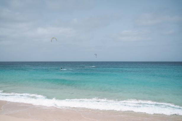Kitesurfer auf Sal Kapverden