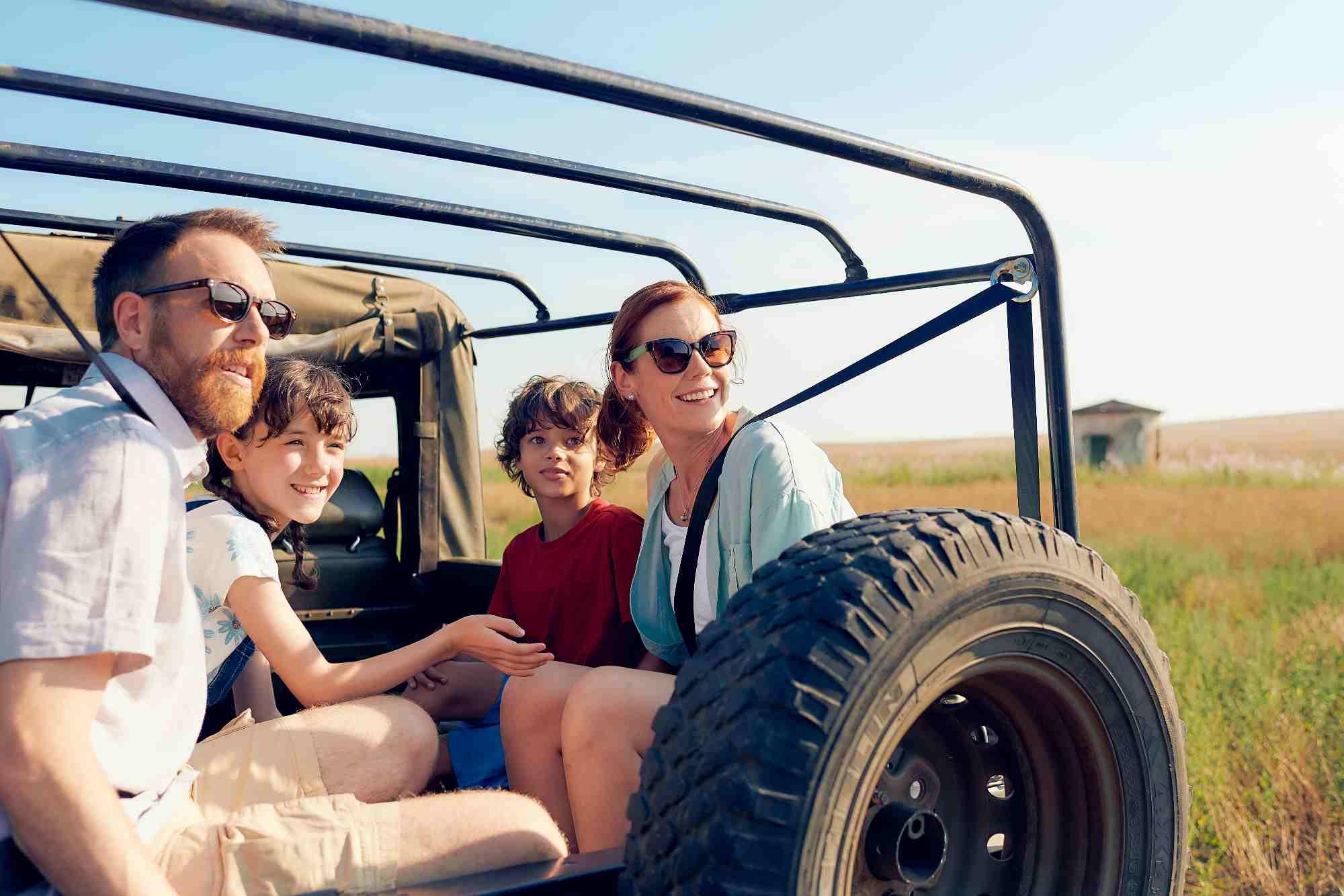Familie auf Safari