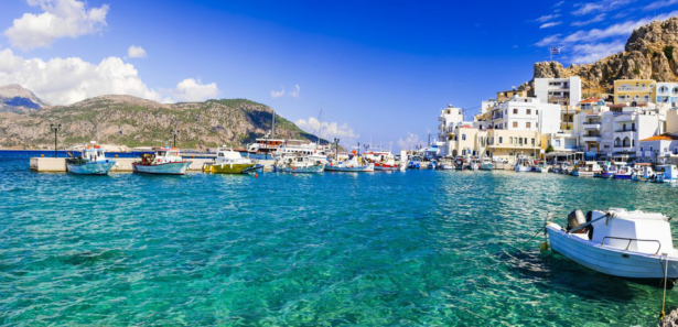 Boot am Meer Insel Karpathos