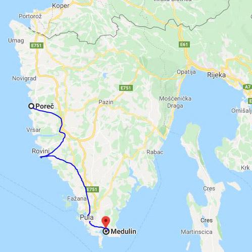 Landkarte Istrien